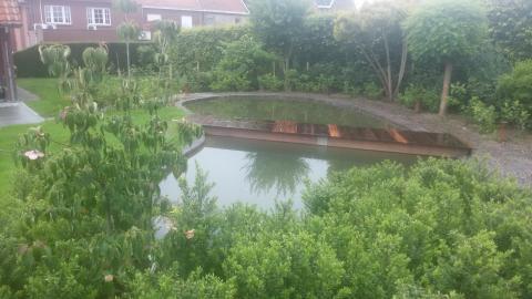 koivijver, vijver, tuinaanleg vijverbrug