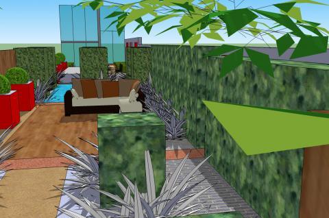 Stadstuin te lokeren 3d ontwerp groent a c bvba for 3d tuinarchitect
